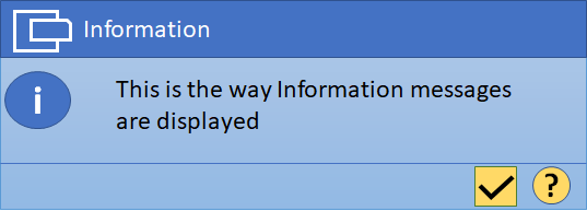 Information Message in SAP