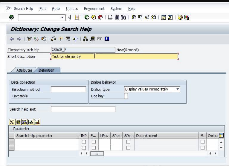 Elementary Search Help in SAP ABAP
