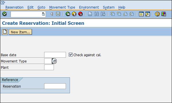 MB21 Make A Reservation: Inventory Management in SAP