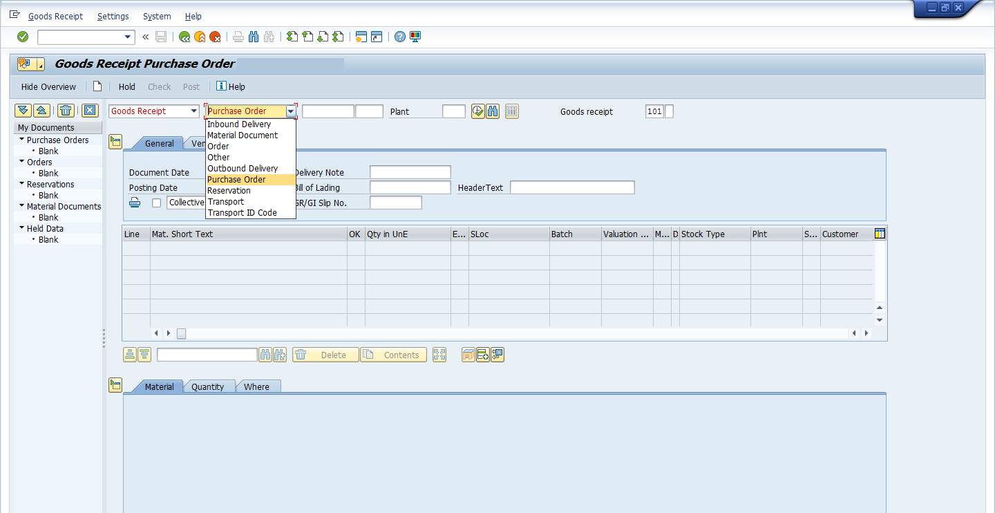 MIGO Goods Receipt: Inventory Management in SAP