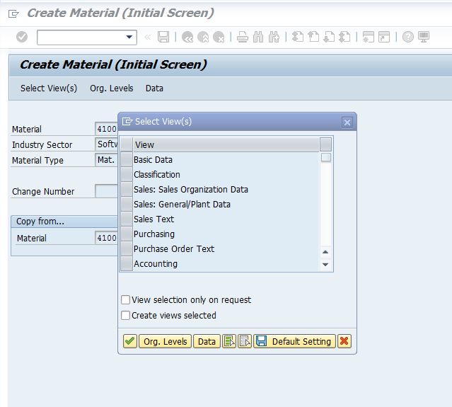 Maintain the Material: MM01: Master Data in SAP