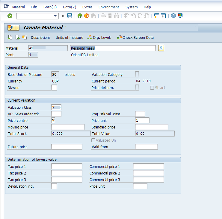 New Material Creation: Master Data in SAP