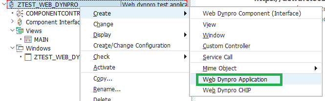 web dynpro Application