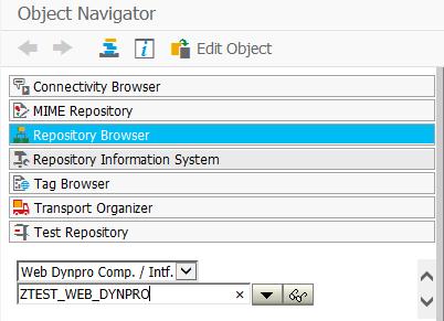web dynpro Object Navigator