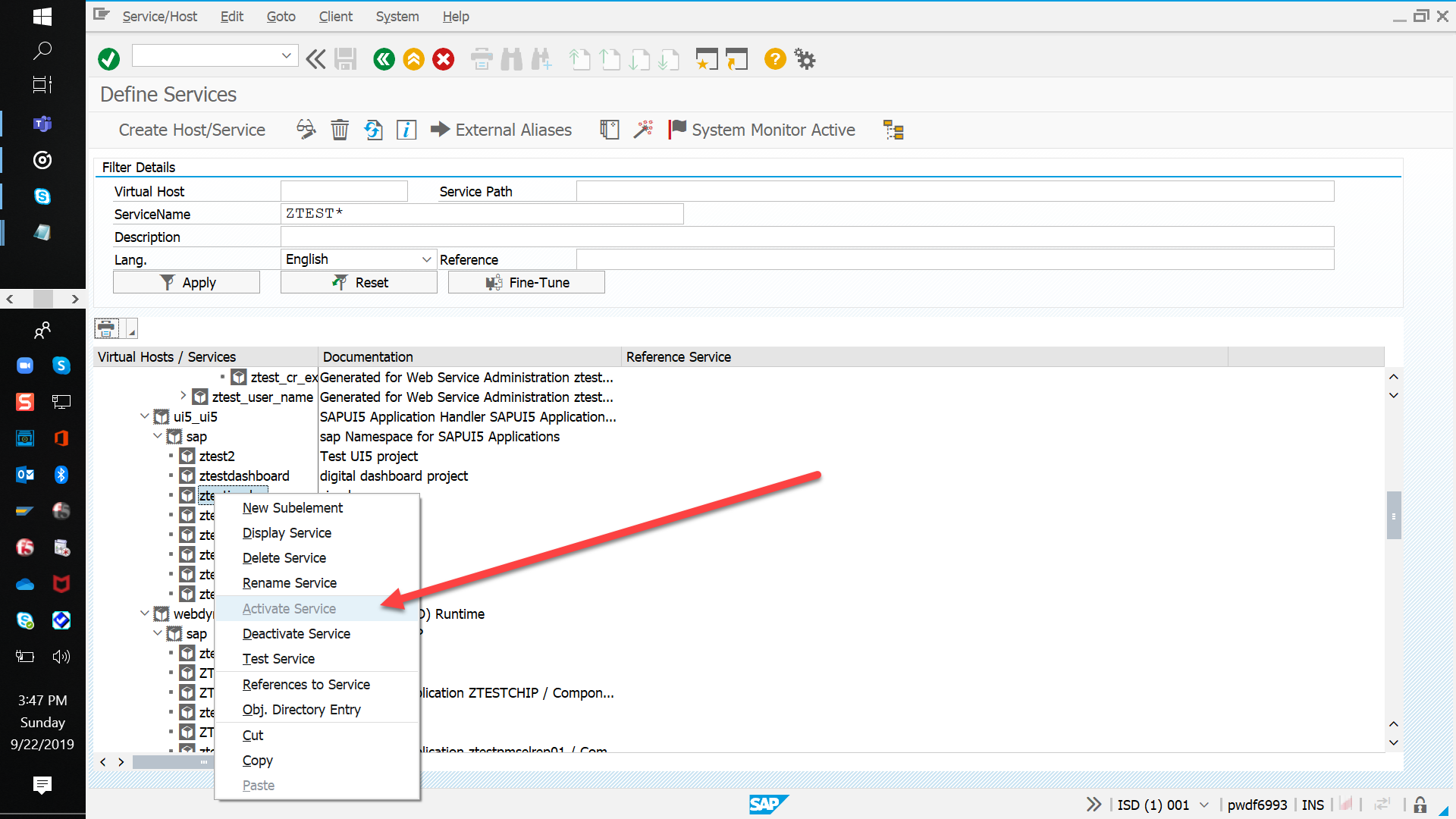 Activate Services for Fiori Launchpad