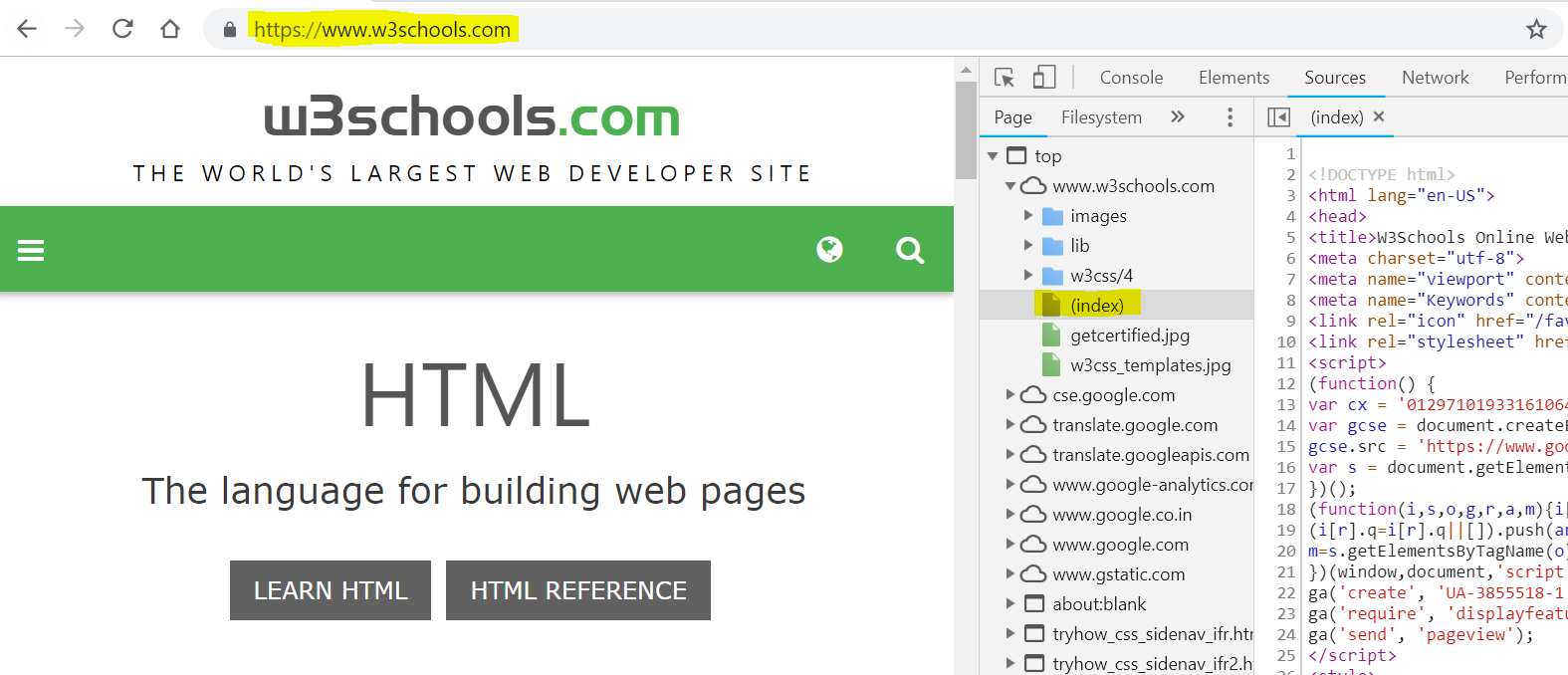 HTML Layout Example