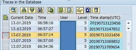 Traces in Database