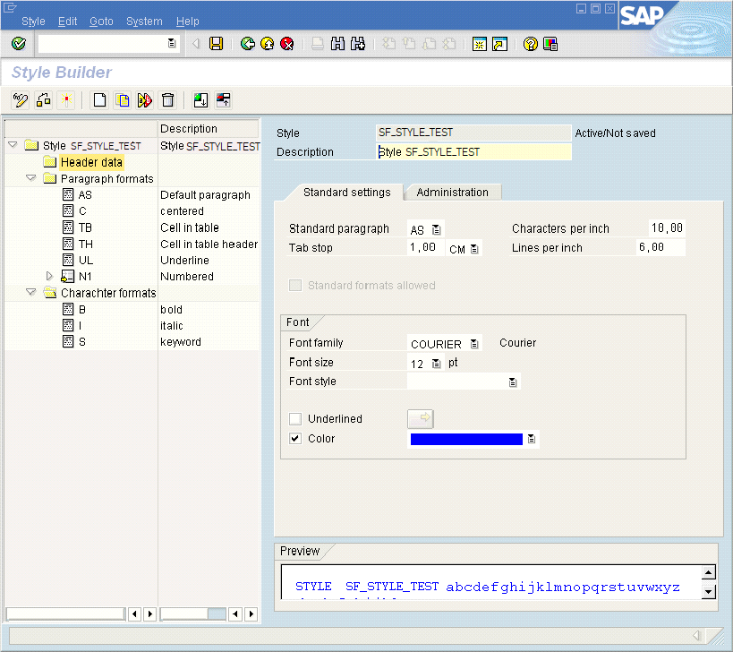 SAP Smart Style Feature