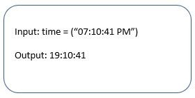 Program to convert time from 12 hour format to 24 hour format in Python