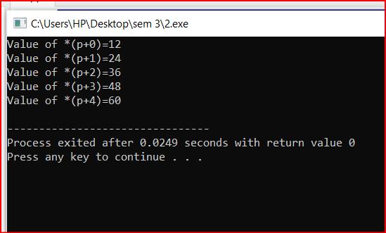 Array in C Example