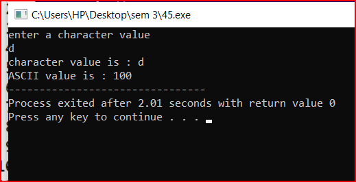 Character Value Storage in C