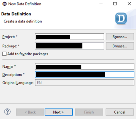 Create data model with CDS views