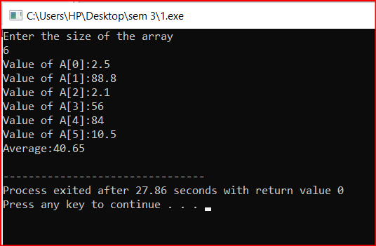 Pass an entire array with size in the function