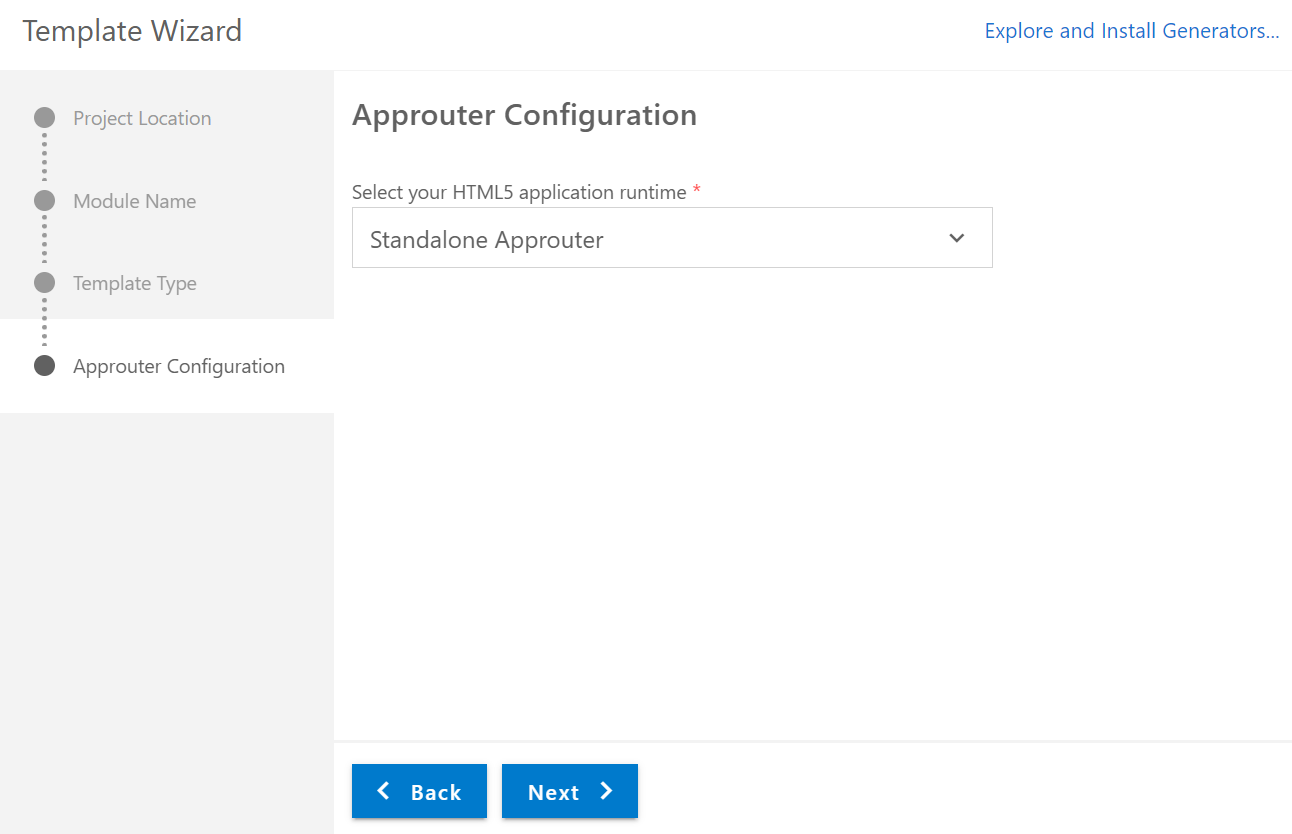 App Router Configuration in BAS